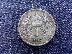 Ausztria extra szép Osztrák-Magyar .835 ezüst 1 Korona 1913 / id 14210/