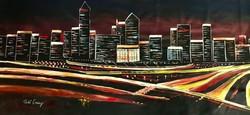 --- PETŐ CSENGE:Evening cityscape  160x75!!!....----