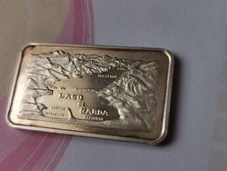 Garda-tó Olaszország ezüst 31,1 gramm 0,999 lap
