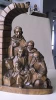 A Szent család, fafaragás