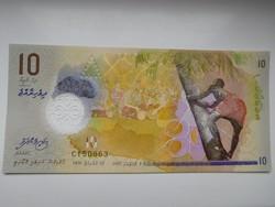 Maldív szigetek 10 rufiyaa 2016 UNC  Polymer