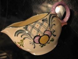 Antik Zeller Keramik Dekor Favorite Georg Schmider tekes, tejszínes kancsó