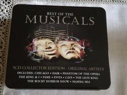 Új best off musicals  fém diszdobozban