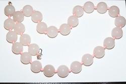 Rózsakvarc nyaklánc