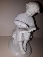 Lomonosov olvasó kislány porcelán figura