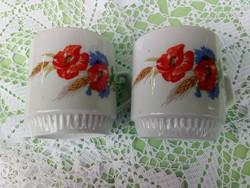 Zsolnay pipacsos csészepár 24.