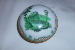 Bécsi porcelán  jelzéssel tetején tájkép jelenettel porcelán doboz