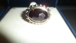 Rusztikus ezüst gyűrű