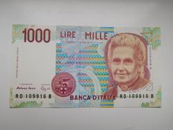 Olaszország 1000 lira 1990 UNC