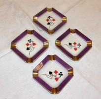 Kártya mintás hamutartó Cmielow porcelán 4 db