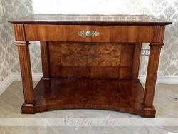1830 Biedermeier konzolasztal restaurált