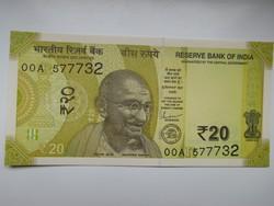 India 20 rupees 2019 UNC