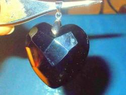 Álomszép! Éjfekete fényű Crystallized Swarovski Elements Szív Medál