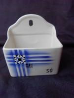 Gránit budapesti porcelángyárból sótartó,fűszertartó, porcelán.Falra akasztható. Hibátlan.