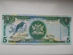 Trinidad & Tobago 5 dollár 2006 UNC