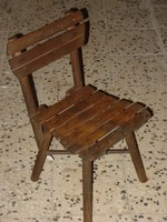 Old small chair with child chair