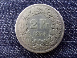 Svájc .835 ezüst 2 Frank 1875 B / id 13916/
