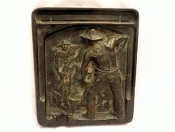 Robert Müller Kohászok bronz plakett