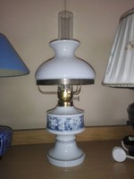 Wallendorf porcelán lámpa, petróleum lámpa