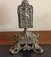 Antik ördögfejes bronz gyufatartó