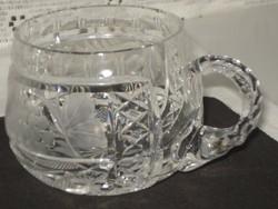 Ingyen szállítással!!!  Hibátlan  valódi  kristály üveg pohár csésze  2 db eladó, bő 1,75 dl-es