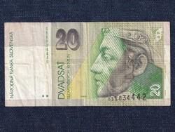 Szlovákia 20 Korona bankjegy 2001 / id 12821/