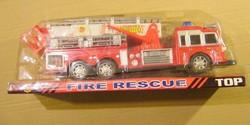 Tűzoltóautó lendkerekes forgatható kitolható létrával -KIS MÉRET
