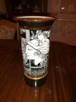 Szász Endre nagyméretű váza. 30 cm.