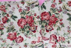 Angol rózsás gépi gobelin párnahuzat