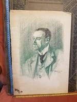 Grafika/festmény/akvarell csomag, sok remekmű, olcsón! méretet jeleztem! Bardócz Lajos,1904