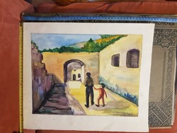 Grafika/festmény/akvarell csomag, sok remekmű, olcsón! Technikát, méretet jeleztem!