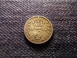 Anglia V. György .925 ezüst 3 Pence 1914 / id 12470/