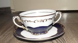 Zsolnay Pompadour erőleveses, leveses csésze