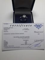 Top Crystal szín:I, VS2 0,5mm gyémánt,briliáns metszéssel, 18 kt fehar. certifikációval