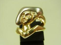 Egyedi  vintage designer arany gyuru