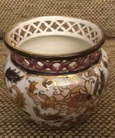 Zsolnay kis kaspó, perzsa dekorral