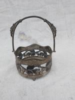 Szecessziós Magyar ezüst kínáló 1900