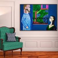 Szentesi Norbert,  H. Matisse Beszélgetés című festménye alapján készült.