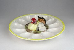 0U225 Régi különleges Japán fajansz tojástartó