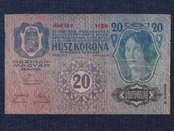 Osztrák-Magyar (1912-1915) 20 Korona bankjegy 1913 / id 14138/