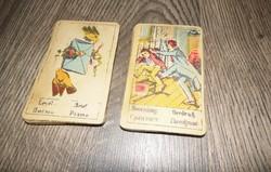 Retro Régi jóskártya, vetőkártya, cigánykártya -1-