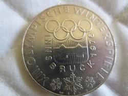 Osztrák Ausztria 100 shilling ezüst érme  24gr - 0.6400ag 1976 Innsbruck
