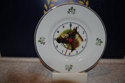 Porelán óra 20,5 cm lovas