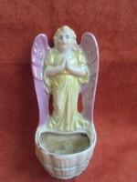 Angyal figurás porcelán szenteltvíz tartó