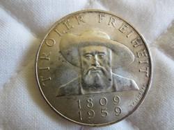 Osztrák Ausztria 50 shilling ezüst érme  20gr - 0.900ag  1959