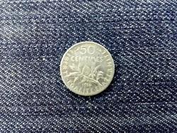 Franciaország Harmadik Köztársaság .835 ezüst 50 Centimes 1916 / id 13966/