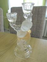Velencei üveg angyal figurás gyertyatartó