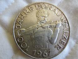 Osztrák Ausztria 50 shilling ezüst érme  20gr - 0.900ag  1967
