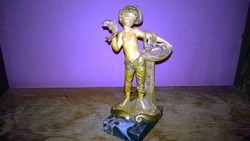 Figurális polcdísz szobor 2. márvány talpon