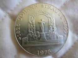 Osztrák Ausztria 100 shilling ezüst érme  24gr - 0.6400ag 1975 Strauss